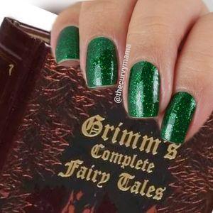 2/$20 spruced up incoco nails dark green glitter